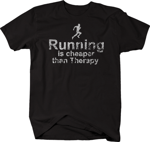 Distressed - Running is Cheaper than Therapy 5k 10k 13.1