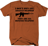 AR15 I Don't Own Any Assault Weapons, Defense Weapons