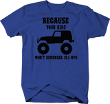 Because Your Kids Won't Remember 39.5 MPG Royal Blue T-Shirt