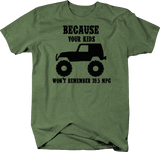 Because Your Kids Won't Remember 39.5 MPG Heather Green T-Shirt