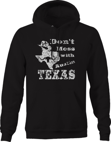 Don't Mess with Texas Cowboy Hat Austin Oil Longhorn UT  Hoodie