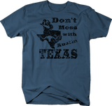 Distressed - Don't Mess with Texas Cowboy Hat Austin Oil Longhorn UT