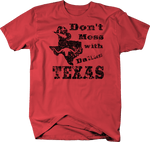 Distressed - Don't Mess with Texas Cowboy Hat Dallas Oil Longhorn UT