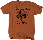 Live Free Or Die Gun Rights Cowboy SkullMolon Labe