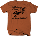 In Riding A Horse We Borrow Freedom Quote Country Horse