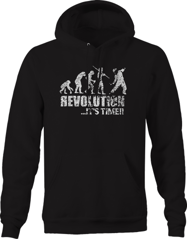 Revolution Evolution It's Time Molotov Cocktail Military Police  Hoodie