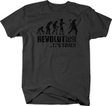 Distressed - Revolution Evolution It's Time Molotov Cocktail Military Police
