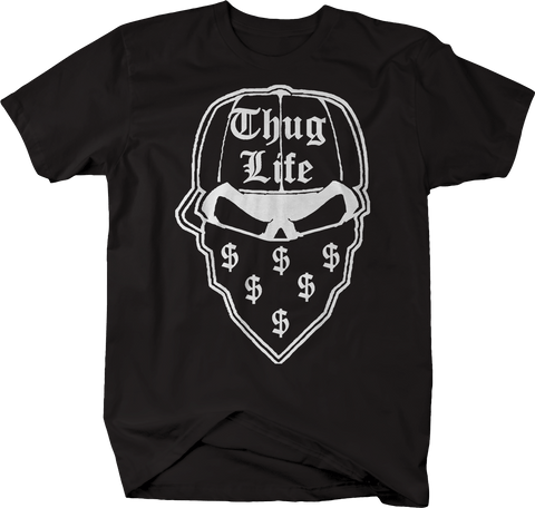 Gangster Thug Life Skull Bandana Money Hat Dark Eyes Dollar Sign