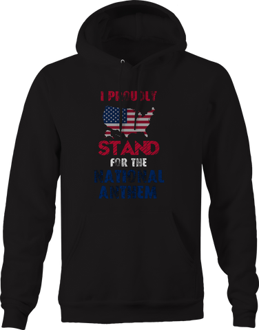 Proudly Stand for National Anthem American Flag Pledge USA Hoodie