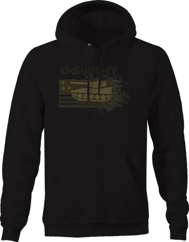 US Army American Flag Military Tank Hoodie