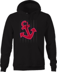 Ships Anchor Red White Blue  Hoodie