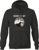 Sorry I can't hear Sound of Freedom American Eagle Flag Hoodie