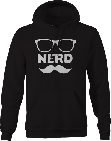 Nerd Glasses Mustache Geek Smart Math Computers Hoodie
