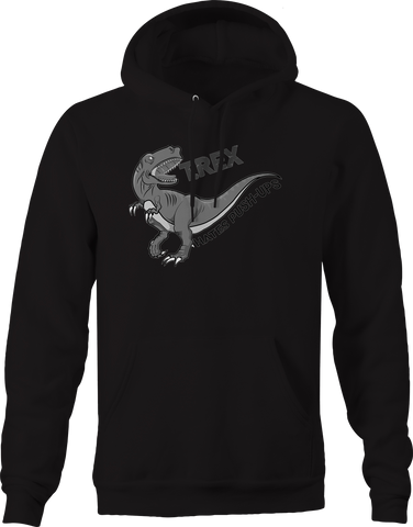 T Rex Hates Push Ups Gym Workout Funny Hoodie
