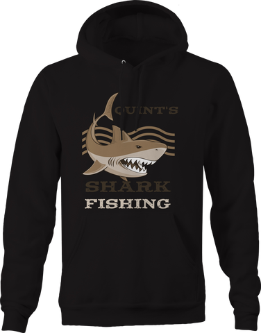 Quints Shark Fishing Great White  Hoodie