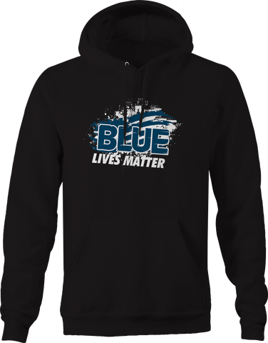 Blue Lives Matter Police Support Thin Blue Line Hoodie