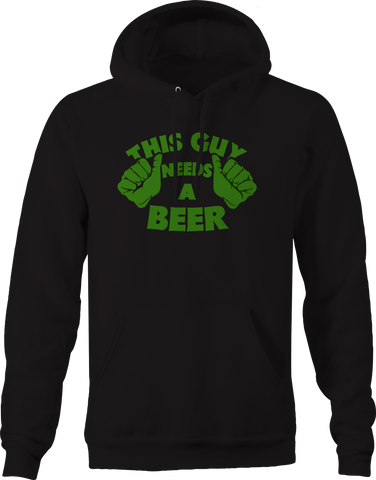 This Guy Needs a Beer Green Hulk Hoodie
