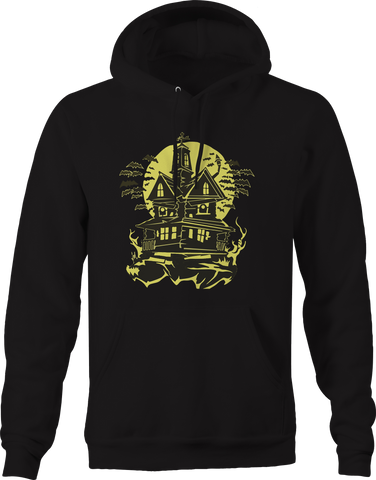 Halloween Night Haunted House Bats Hoodie