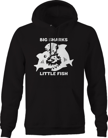Big Sharks Little Fish Food Chain Alpha Hoodie