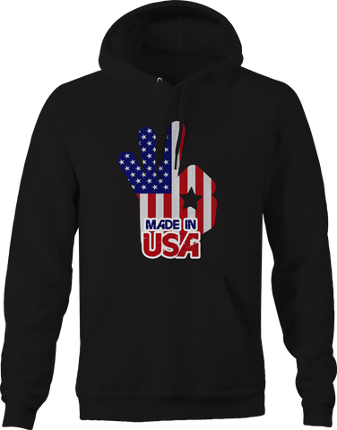 Made in the USA American Flag Okay Hoodie
