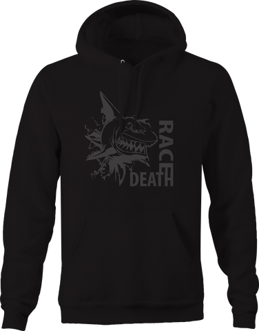 Death Race Shark Ripping Thru Hoodie