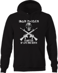 Iron Maiden Matter Life Death Solider Military Crossed Rifles Hoodie