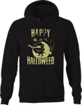 Happy Halloween Weed Pot Funny Witch Hoodie