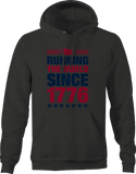 Running the World Since 1776 USA Flag Distressed Freedom Hoodie