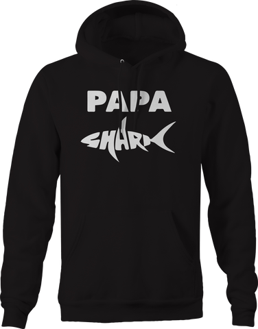 Papa Shark Dad Father  Hoodie