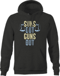 Suns Out Guns Out Bodybuilding Gym Workout Hoodie