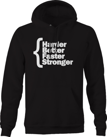Harder Better Faster Stronger Workout Gym Hoodie