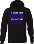 It Never Gets Easier Just Stronger Workout Gym  Hoodie