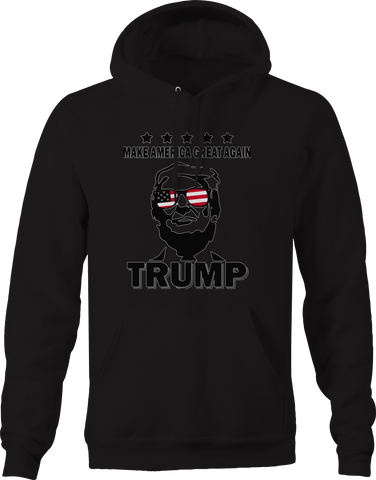 Make America Great Again Trump American Flag Sunglasses Hoodie