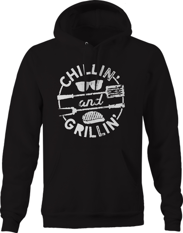 Chillin and Grillin  Summer Sunglasses Steak Beach Hoodie