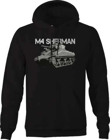 M4 Sherman Military Tank Army Distressed Hoodie