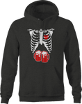 Skeleton Xray Halloween Heart Beer Steins Stomach Hoodie