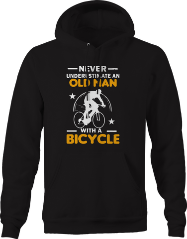 Never Underestimate Old Man with a Bicycle  Hoodie