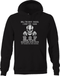 No I'm Not Dead Resting Gym Face Skeleton Workout Hoodie