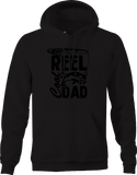 Reel Cool Dad Fishing Fish Pole Hoodie