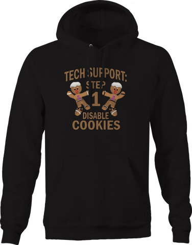 Tech Support Christmas Disable Cookies Gingerbread Hoodie