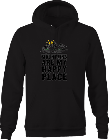 Mountains Are My Happy Place Nature Hoodie