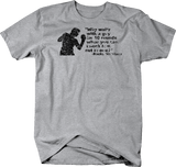 Distressed - Rocky Marciano Quote Knock Him Out One Boxing Gloves