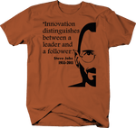 Steve Jobs Innovation between Leader Follower Apple Quote