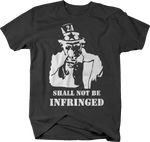 Uncle Sam Gun Rights Shall Not Be Infringed Molon Labe NRA