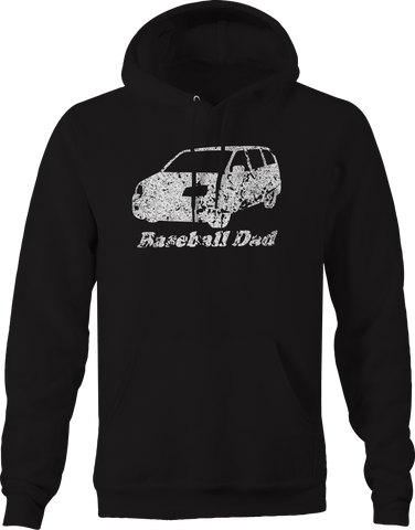 Baseball Dad Minivan Mom Family Kids Coach  Hoodie