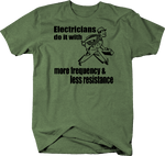 Electricians Do It Frequnecy & Resistance Funny Trade Worker
