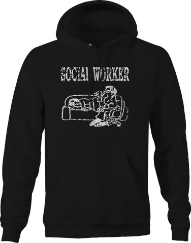 Social Worker Therapist Couch Hoodie