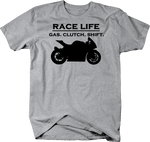 Race Life Gas Clutch Shift Sport Bike Racing