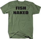 Distressed - Fish Naked Funny Fishing