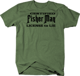 Certified Fisherman License to Lie Fish Story